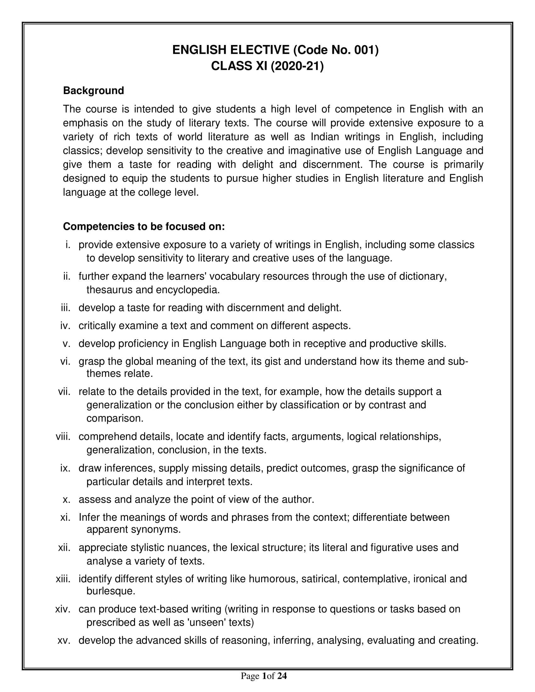 English elective Sr.Sec 2020 21 1