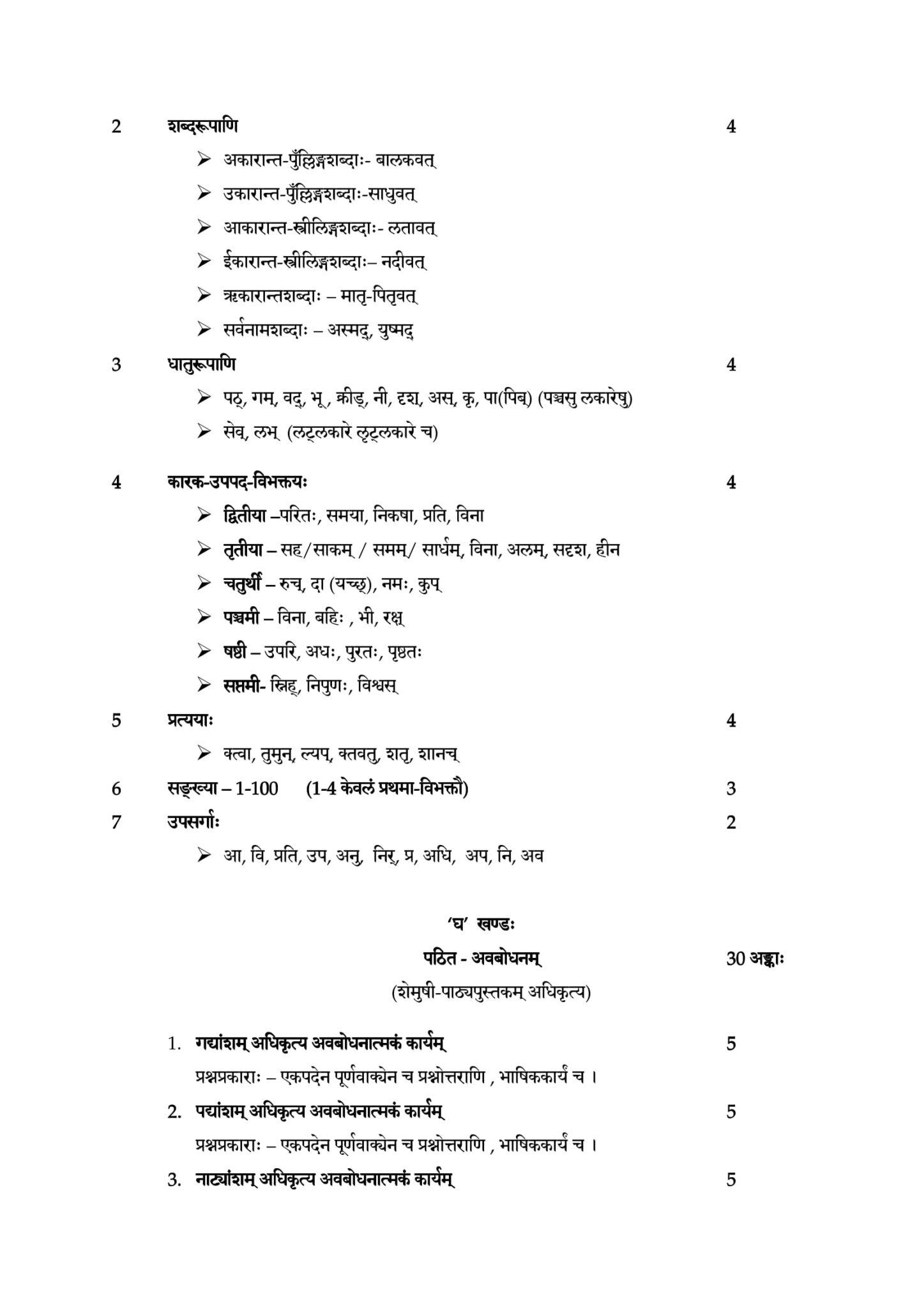 Sanskrit Sec 2020 21 class 9 10 11