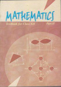 NCERT BOOK of Mathematics Class 12 Part II Coverpage