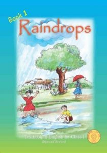 English - Raindrops book for class 1