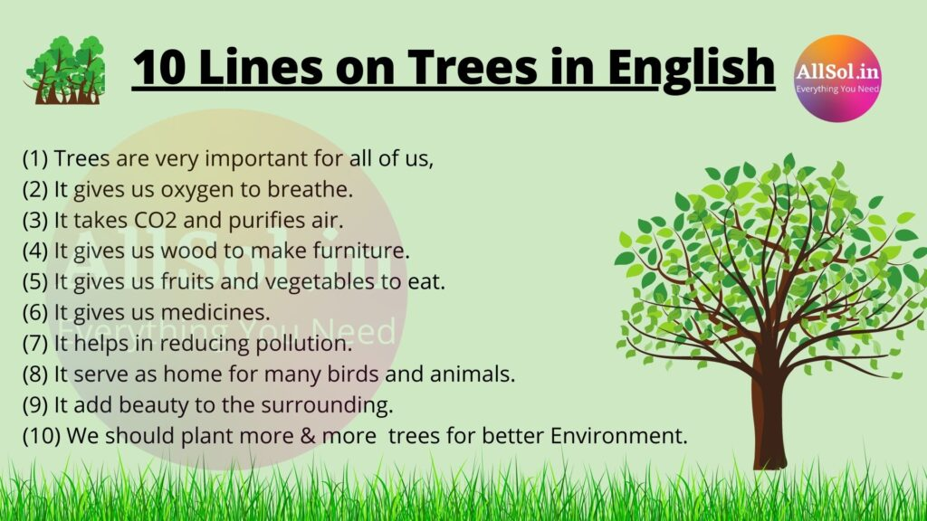 Lines on Trees in English