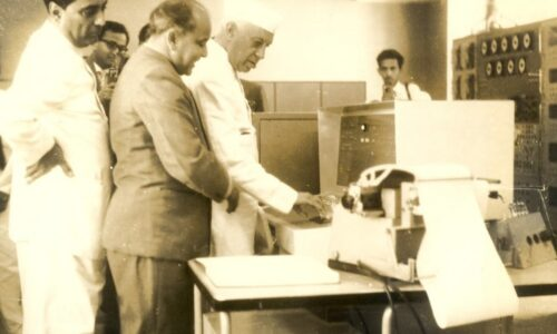 When and Where was the India's first computer installed?