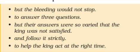 NCERT Solution for Class 7th English Honeycomb Chapter 1 Three Questions