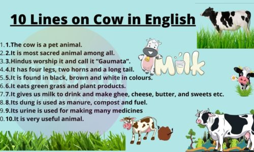 10 Lines on Cow in English