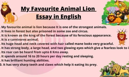 My Favourite Animal Lion Essay in English